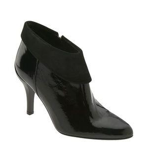 Donald J Pliner Rula Bootie Black Patent Leather